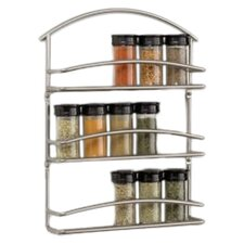 Euro Wall-Mounted Spice Rack in Black