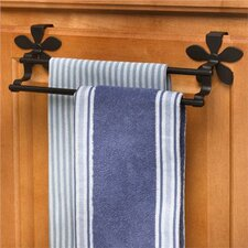"""Flower 12"""" Over-the-Cabinet Double Towel Bar"""