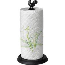 Rooster Paper Towel Holder in Black