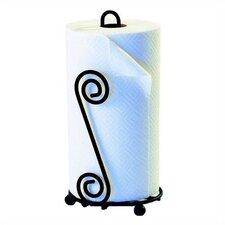 Scroll Paper Towel Holder in Black