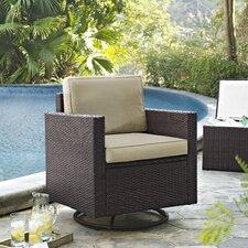 Palm Harbor Swivel Rocker Club Chair with Cushions