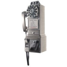 1950's Classic Brushed Chrome Pay Phone