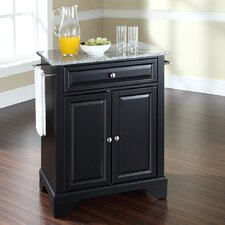 LaFayette Kitchen Cart with Granite Top