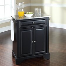 LaFayette Kitchen Cart with Stainless Steel Top