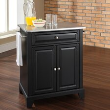 Newport Kitchen Cart with Stainless Steel Top