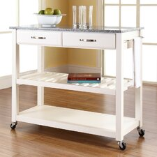 Kitchen Cart with Granite Top