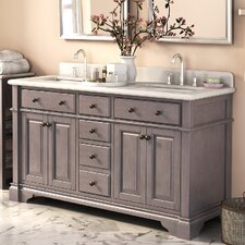 "Casanova 60"" Double Vanity Set with Backsplash"