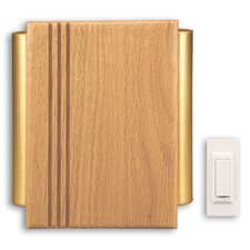 Traditional Décor Wireless Battery Operated Door Chime Kit with Satin Brass Tubes