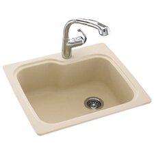 "Swanstone Classics 25"" x 22"" Single Bowl Kitchen Sink"