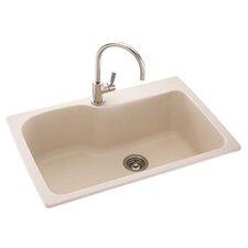"""Metropolitan 33"""" x 22"""" Large Single Bowl Kitchen Sink"""