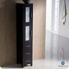 "Bari Torino 12"" x 68"" Bathroom Linen Side Cabinet"