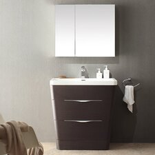 "Milano 31.5"" Single Sink Modern Bathroom Vanity Set"