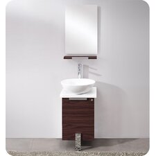 "Adour 17"" Single Modern Bathroom Vanity Set with Mirror"