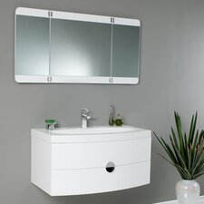 "Lucido 36"" Single Energia Modern Bathroom Vanity Set with Mirror"