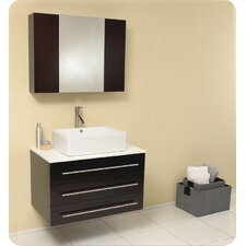 "Stella 32"" Single Modello Modern Bathroom Vanity Set"