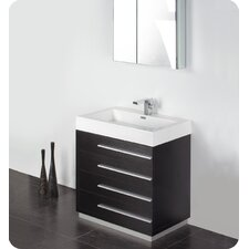 "Senza 30"" Single Livello Modern Bathroom Vanity Set"