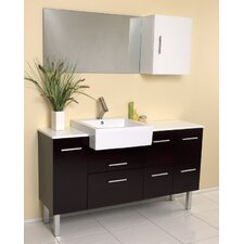 "Stella 55"" Single Serio Modern Bathroom Vanity Set with Mirror with Mirror"