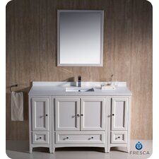 "Oxford 54"" Single Traditional Bathroom Vanity Set with Mirror"