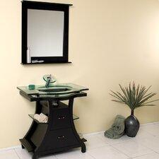 "Classico 32"" Single Cortese Modern Bathroom Vanity Set with Mirror"