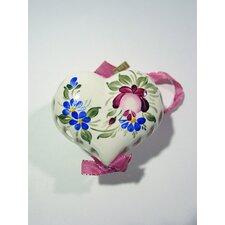 Hand Painted Porcelain Heart Ornament