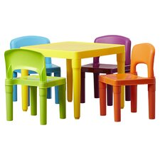Kids 5 Piece Plastic Table and Chair Set