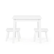 Playtime Kids' 3 Piece Square Table and Stool Set
