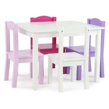 Kids' 5 Piece Rectangle Table and Chair Set