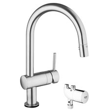 Minta Single Handle Single Hole Kitchen Faucet with Grohtherm Micro