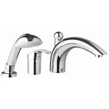 Eurosmart Single Handle Deck mounted Roman Tub Faucet with Hand Shower