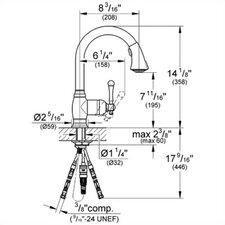Bridgeford Single Handle Single Hole Standard Kitchen Faucet