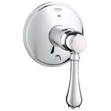 Geneva Three Port Diverter Faucet Trim with Lever Handle