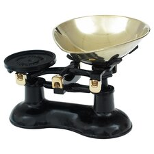 Black Mechanical Kitchen Scale