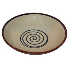 Terracotta Bowl in Cream / Blue