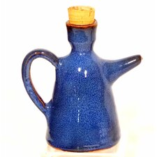 Terracotta 0.5 Litre Oil Bottle in Blue