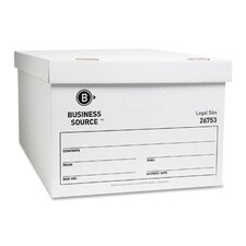 Storage Box, Lift Off Lid, Legal, White, 12-Pack