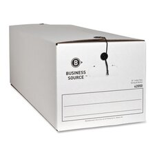 "Storage Boxes, Letter, 12""x24""x10-1/4"", White, 12-Pack"