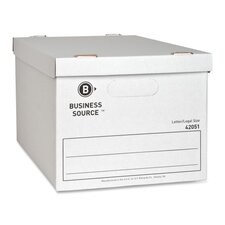 "Storage File, Letter/Legal, 12""x15""x10"", White, 12-Pack"