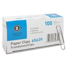 Gem Clip, Jumbo, .041 Wire Gauge, 10 BX per Pack, Silver