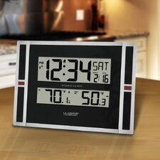 "11"" WWVB Digital Clock with Temperature"