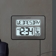 Atomic Full Calendar Clock with Extra Large Digits