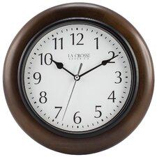 "10"" Solid Wood Analog Wall Clock"