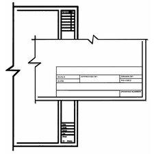 1000HTS A Series Unprinted Vellum Title Block/Border Sheet (Set of 100)