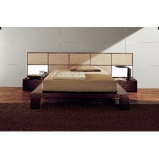 Soho Bed with Wood Panels