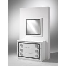 Virgo 3 Drawer Dresser with Mirror