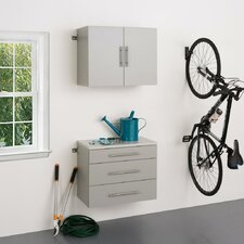 HangUps 6' H x 2.5' W x 1.33' D 2 Piece Storage Cabinet A Set
