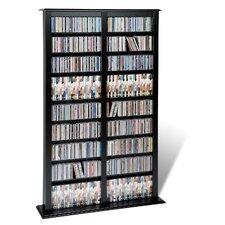 Floor Media Double Width Barrister Multimedia Storage Rack