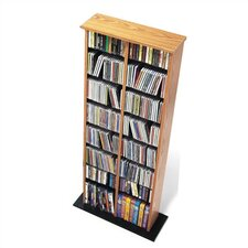 Double Media Multimedia Storage Rack