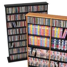 Double Width Multimedia Storage Rack