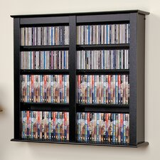 Floating Wall Mounted Double Multimedia Storage Rack