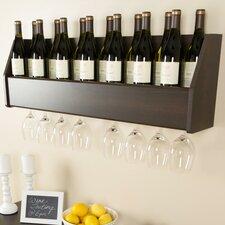 Floating 18 Bottle Wall Mounted Wine Rack